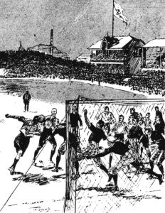 1898 Bloomer Scores V Scotland
