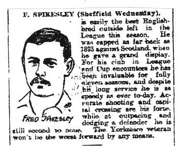 1903 Paper Cutting English League V Scottish League